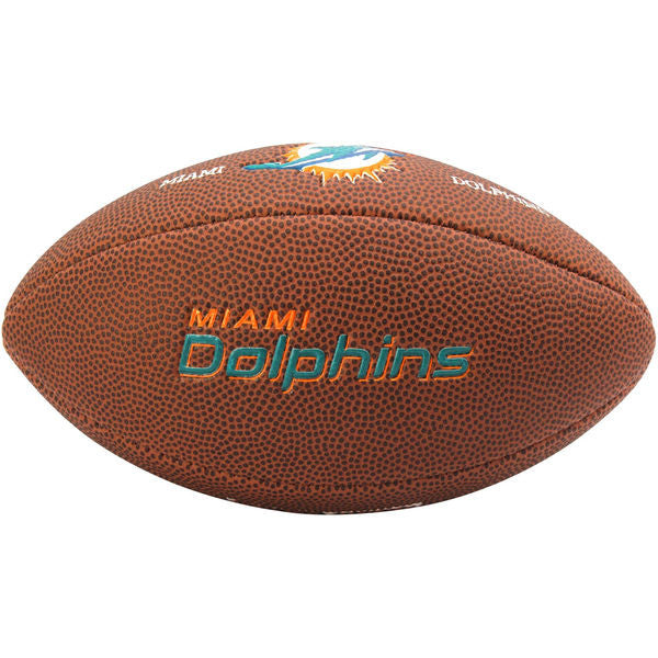 Miami Dolphins Wilson Team Logo Mini Football - CanesWear at Miami FanWear Balls Amer Sports CanesWear at Miami FanWear