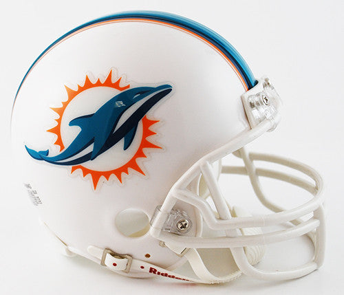 Miami Dolphins Riddell Mini Helmet - White - CanesWear at Miami FanWear Accessories not tracked CanesWear at Miami FanWear
