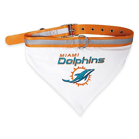 Miami Dolphins Pet Bandana Collar