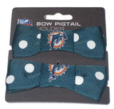 Miami Dolphins Bow Pigtail Old Logo - CanesWear at Miami FanWear general St Louis Wholesale CanesWear at Miami FanWear