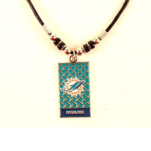 Miami Dolphins Diamond Plate Necklace
