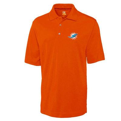 Miami Dolphins Cutter & Buck Dry Tec Polo - Orange