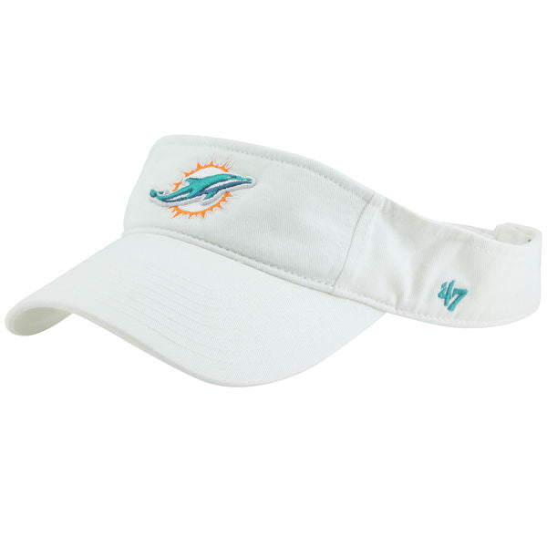 a6450133e4e26 Miami Dolphins  47 Brand Clean-Up Visor - White – CanesWear at Miami ...