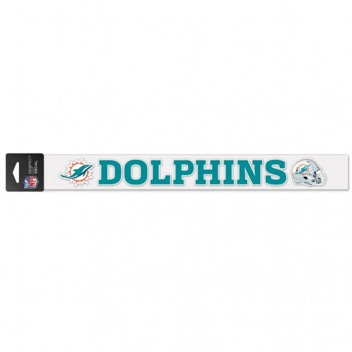 "Miami Dolphins Perfect Cut Decal - 2"" x 17"""