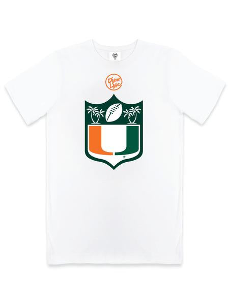 Miami Hurricanes DymeLyfe U Shield Perfomance T-Shirt - CanesWear at Miami FanWear Men's T-Shirt DymeLyfe CanesWear at Miami FanWear