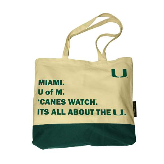 "Miami Hurricanes ""It's All About of the U"" Favorite Things Tote Bag"