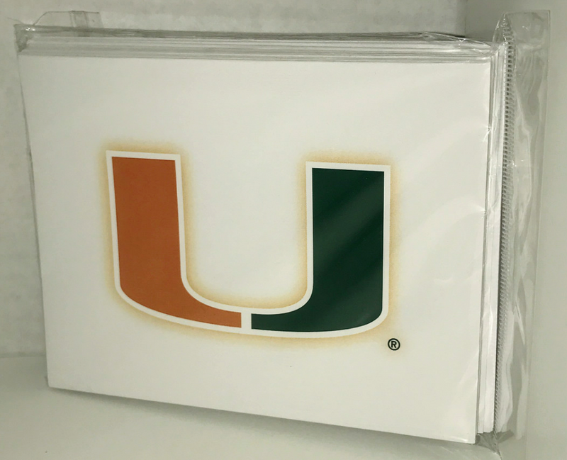 Miami Hurricanes U Note Cards - 10 pack