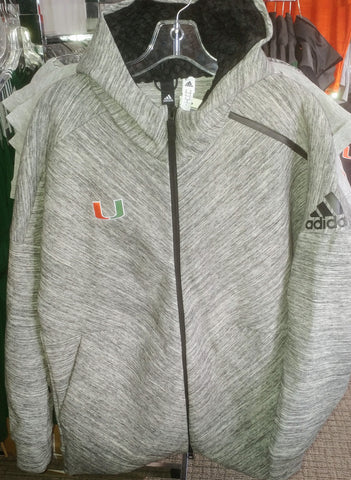 Miami Hurricanes adidas Golf 3 Stripe Climacool Polo - Black