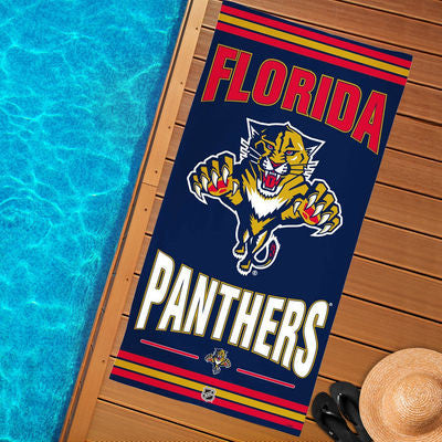"Florida Panthers Beach Towel 30"" x 60"" - CanesWear at Miami FanWear General Wincraft CanesWear at Miami FanWear"
