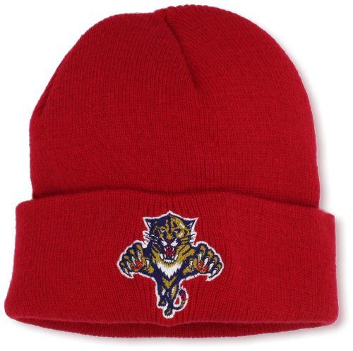 Florida Panthers Cuffed Knit Beanie - Youth - CanesWear at Miami FanWear Kids Apparel Reebok CanesWear at Miami FanWear