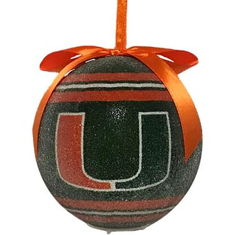 Miami Hurricanes LED Shatterproof Ball Ornament
