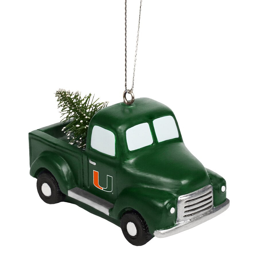 Miami Hurricanes Truck with Tree Ornament
