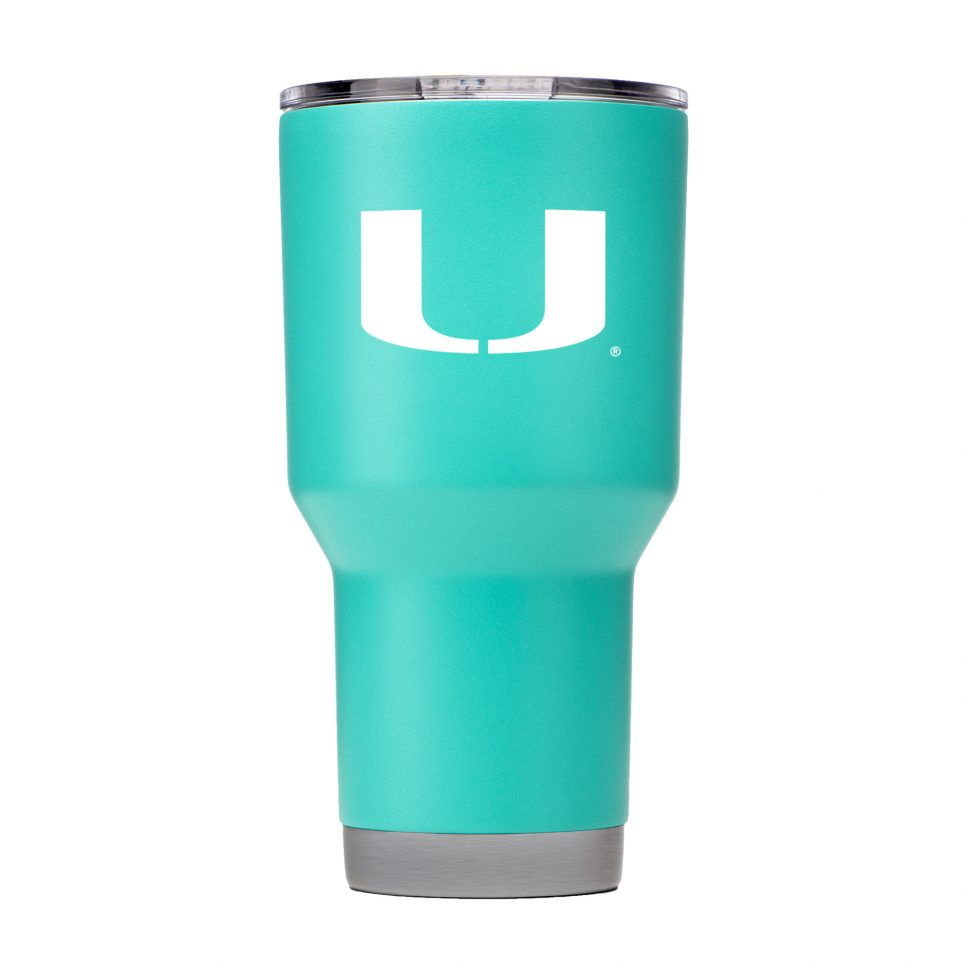 Miami Hurricanes GameTime SideKicks Powder Coated 30 oz Tumbler - Teal