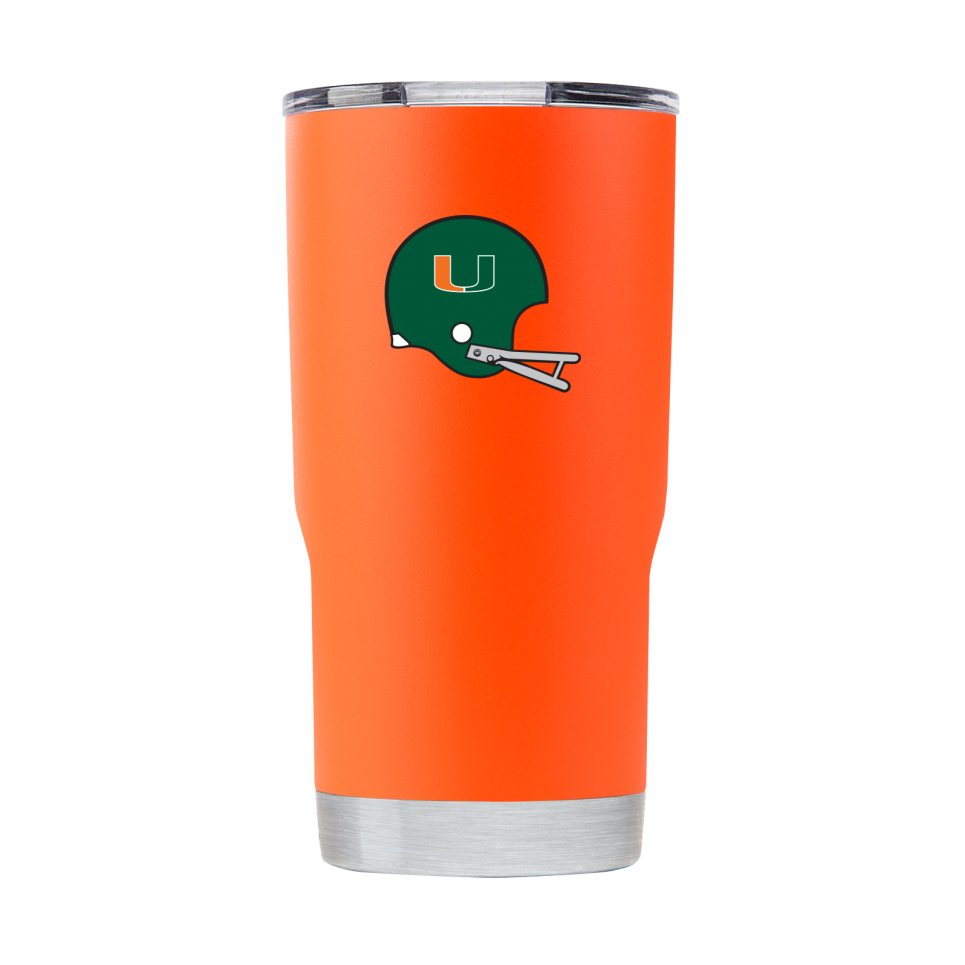 Miami Hurricanes Miami Vault Helmet 20 oz Tumbler - Orange