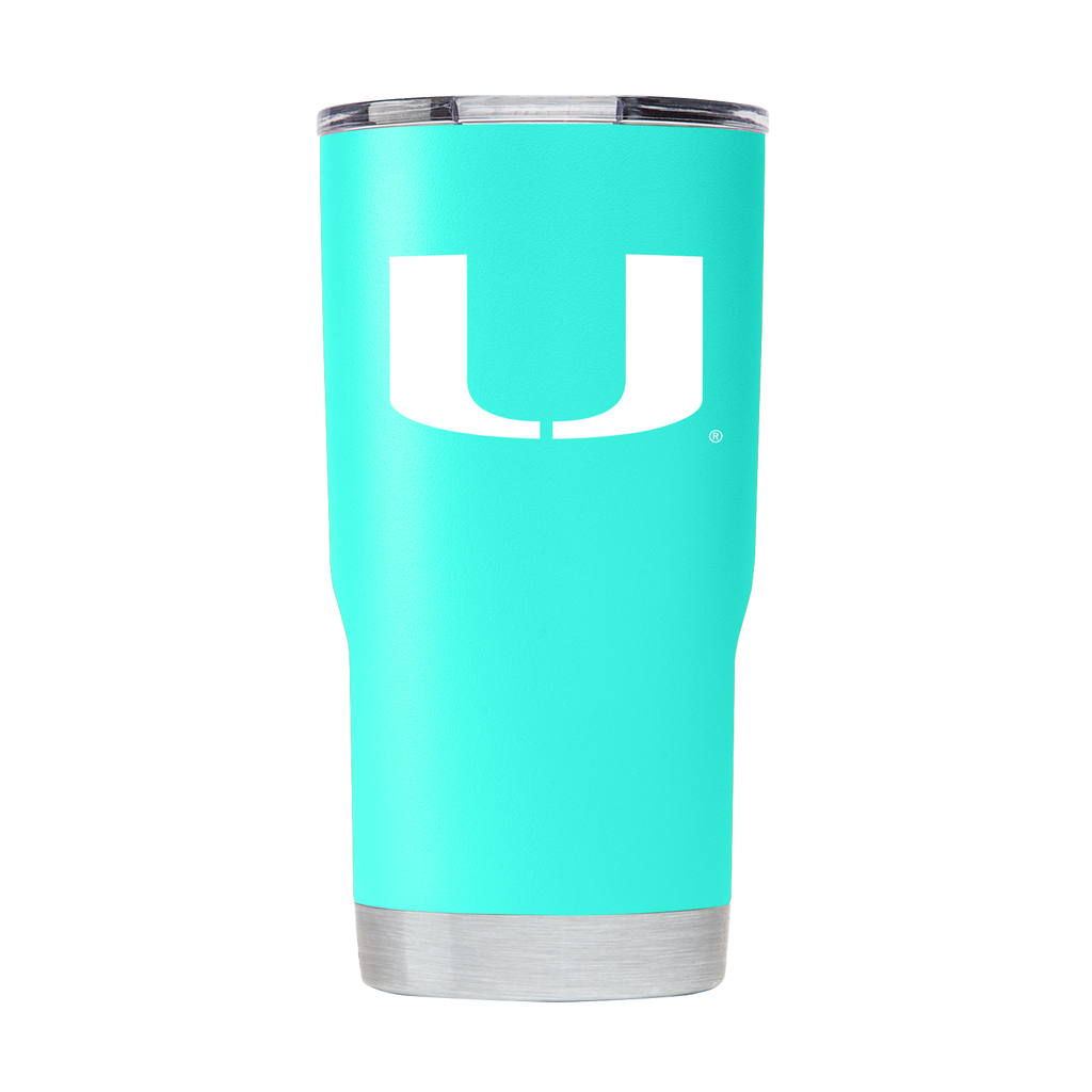 Miami Hurricanes GameTime SideKicks Powder Coated 20 oz Tumbler - Teal