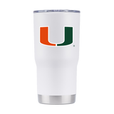 Miami Hurricanes GameTime SideKicks Powder Coated White Tumbler - 20 oz