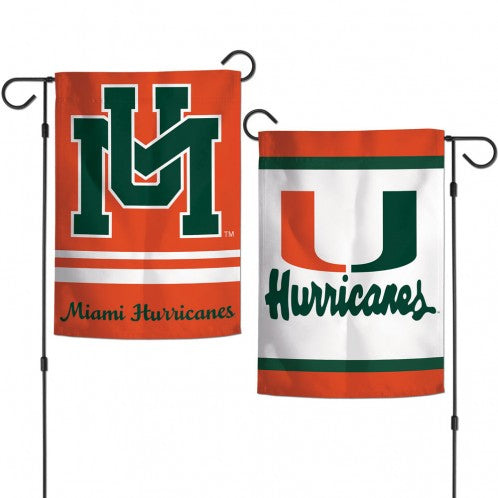 Miami Hurricanes 2-Sided Garden Flag - Vintage
