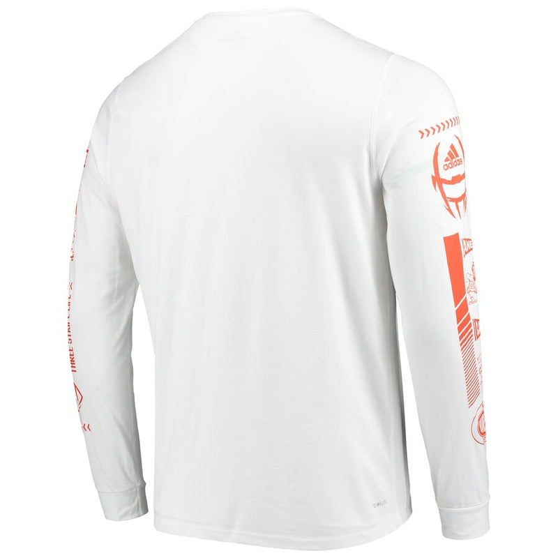 Miami Hurricanes 2019 Speed Sleeves Creator Long Sleeve T-Shirt - White