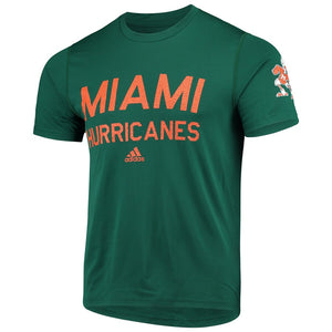 Miami Hurricanes adidas 2019 Creator SS Gameday - Green