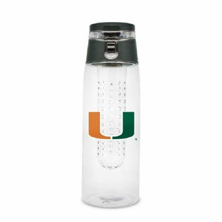 Miami Hurricanes 20 oz Infuser Sports Bottle - Green