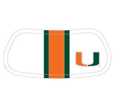 Miami Hurricanes White Helmet Eyeblack - CanesWear at Miami FanWear Tailgate Gear Beveridge Marketing CanesWear at Miami FanWear
