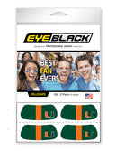 Miami Hurricanes Eye Black U Logo - Green - CanesWear at Miami FanWear Tailgate Gear Eye Black CanesWear at Miami FanWear