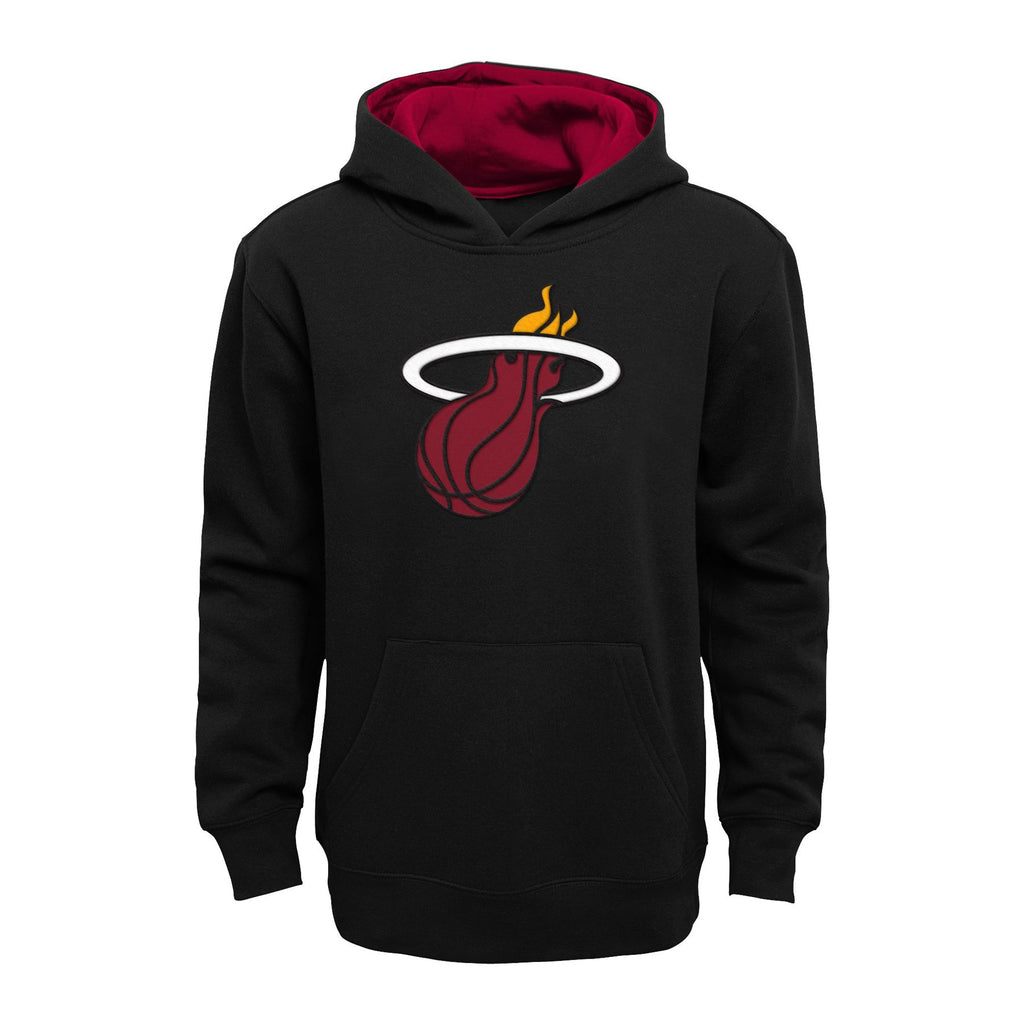 Miami Heat Youth Pullover Hoodie - Black