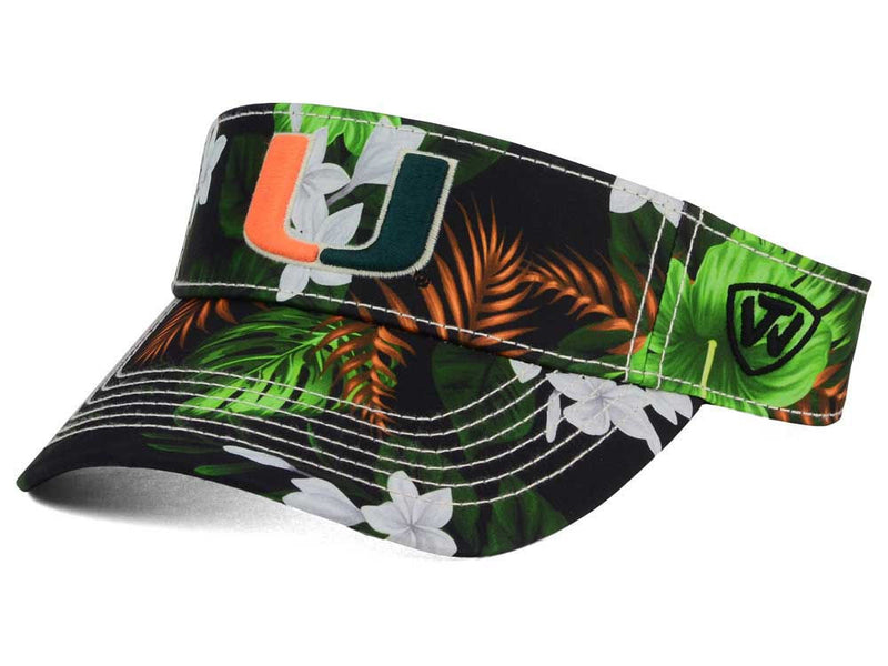 Miami Hurricanes Top Of The World Cove Visor - CanesWear at Miami FanWear Headwear Top of the World CanesWear at Miami FanWear