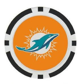 Miami Dolphins Ball Marker Poker Chip
