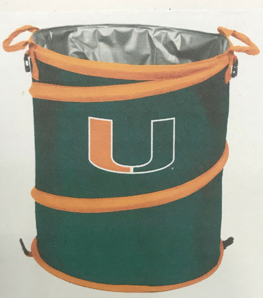 Miami Hurricanes Collapsible 3-in-1 Cooler, Trash Can, Hamper