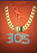 Miami Hurricanes Toddler 305 Turnover Chain T-Shirt - Orange