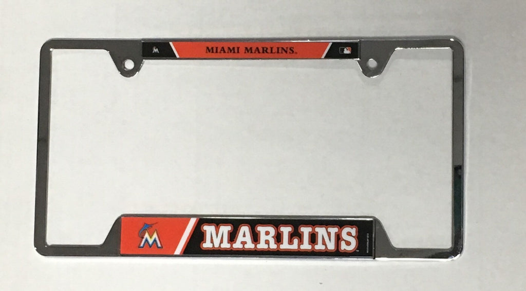 Miami Marlins Chrome Plated License Plate Frame