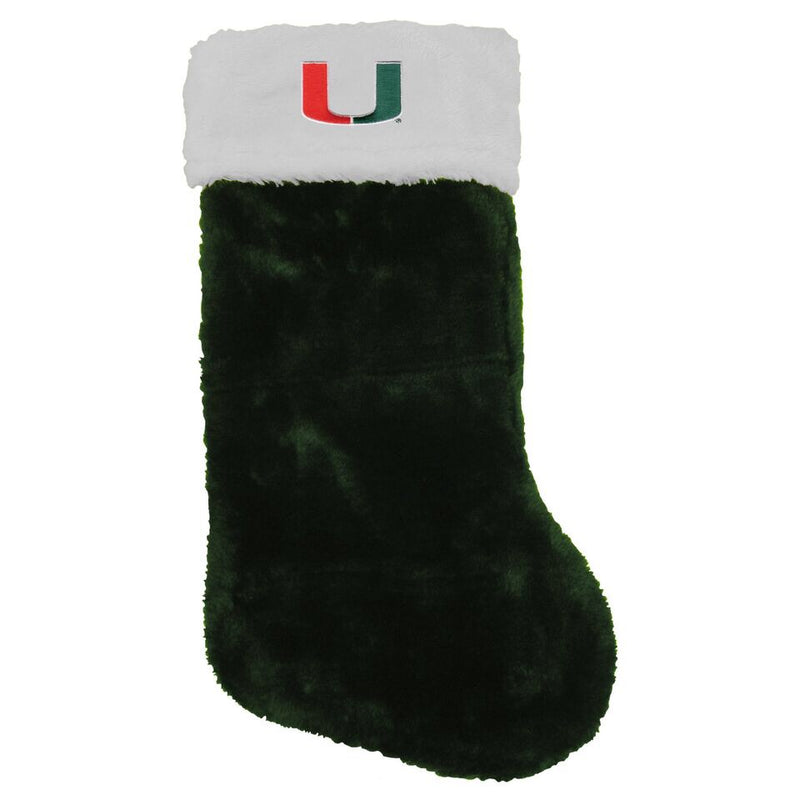 Miami Hurricanes Christmas Stocking - Blitzen - Green/White