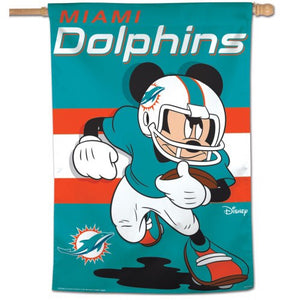 "Miami Dolphins Disney 28"" x 40"" Vertical Flag"