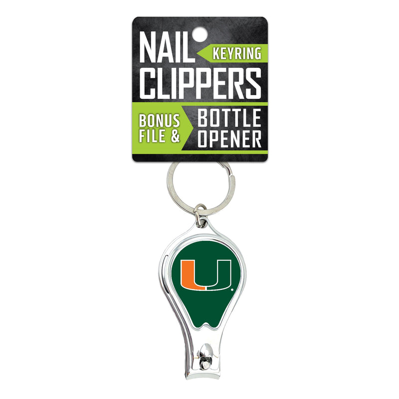 Miami Hurricanes Nail Clipper Keychain w/Bottle Opener