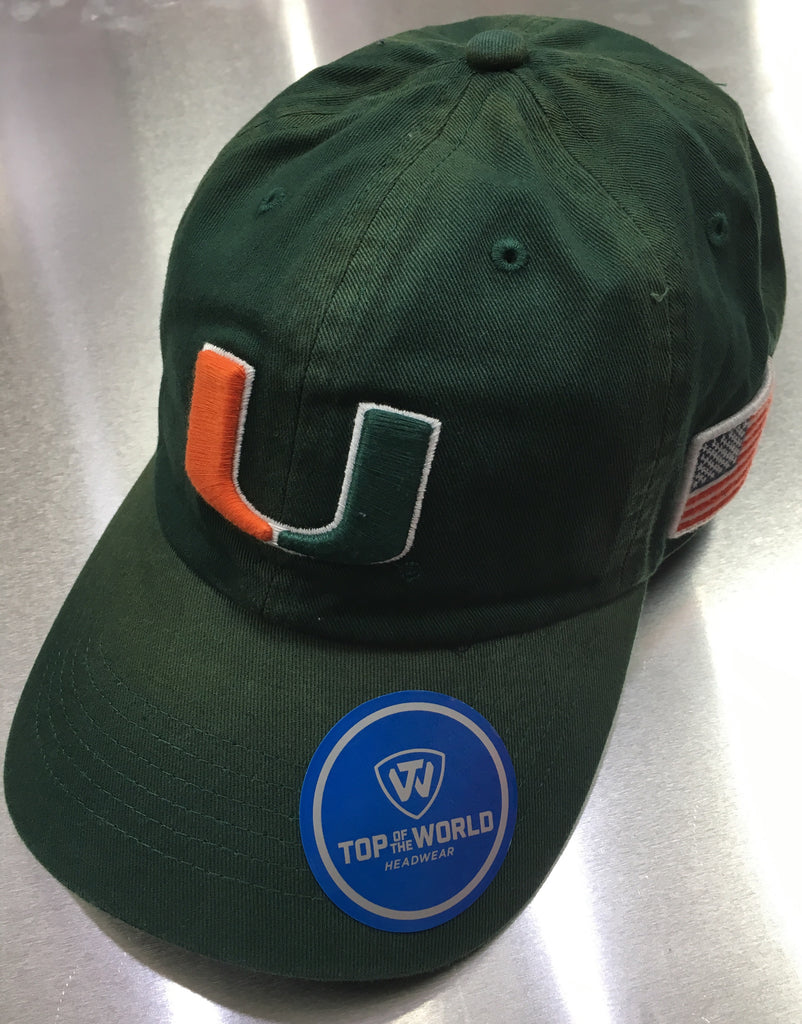 Miami Hurricanes Top of the World Vintage Adjustable Slouch Hat - Dist –  CanesWear at Miami FanWear 2b4bdf38aa7