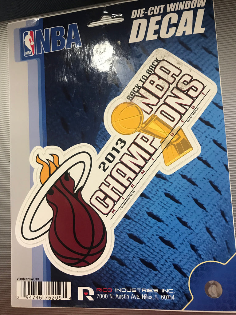 Miami Heat Decal 2013 NBA Champions
