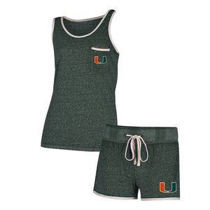 Miami Hurricanes Women's Squad Knit Tank and Short Set