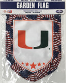 Miami Hurricanes Patriotic Garden Flag