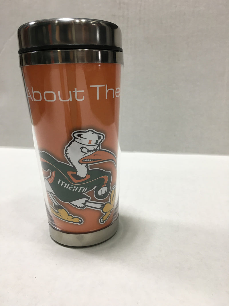 Miami Hurricanes Travel Tumbler - It's All About The U