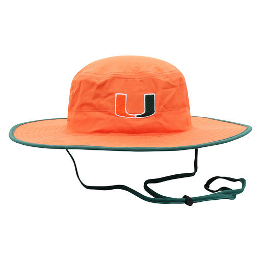 Miami Hurricanes Top of the World Chili Dip Bucket Hat - Orange/Green