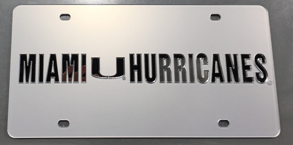 Miami Hurricanes Frost U License Plate