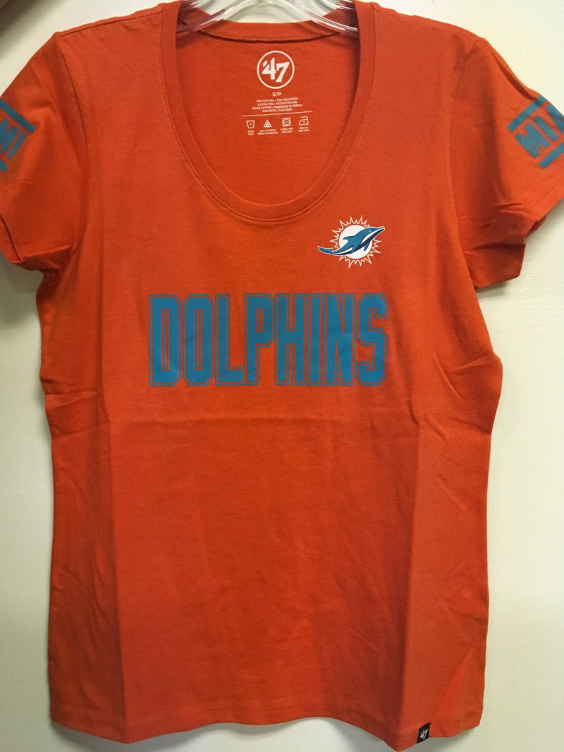 Miami Dolphins Women's Ultra Club Scoop Neck T-Shirt