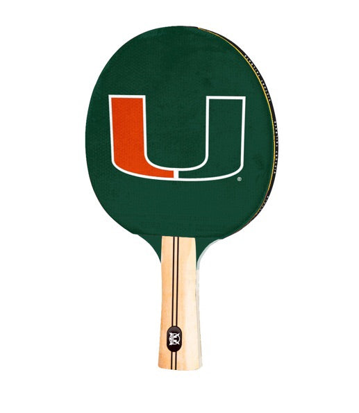 Miami Hurricanes Table Tennis Ping Pong Paddle