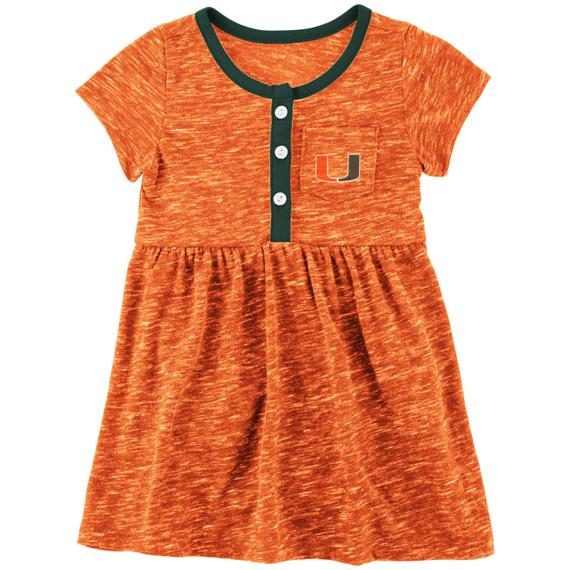 Miami Hurricanes Colosseum INFANT GIRL'S NUESS DRESS -  ORANGE