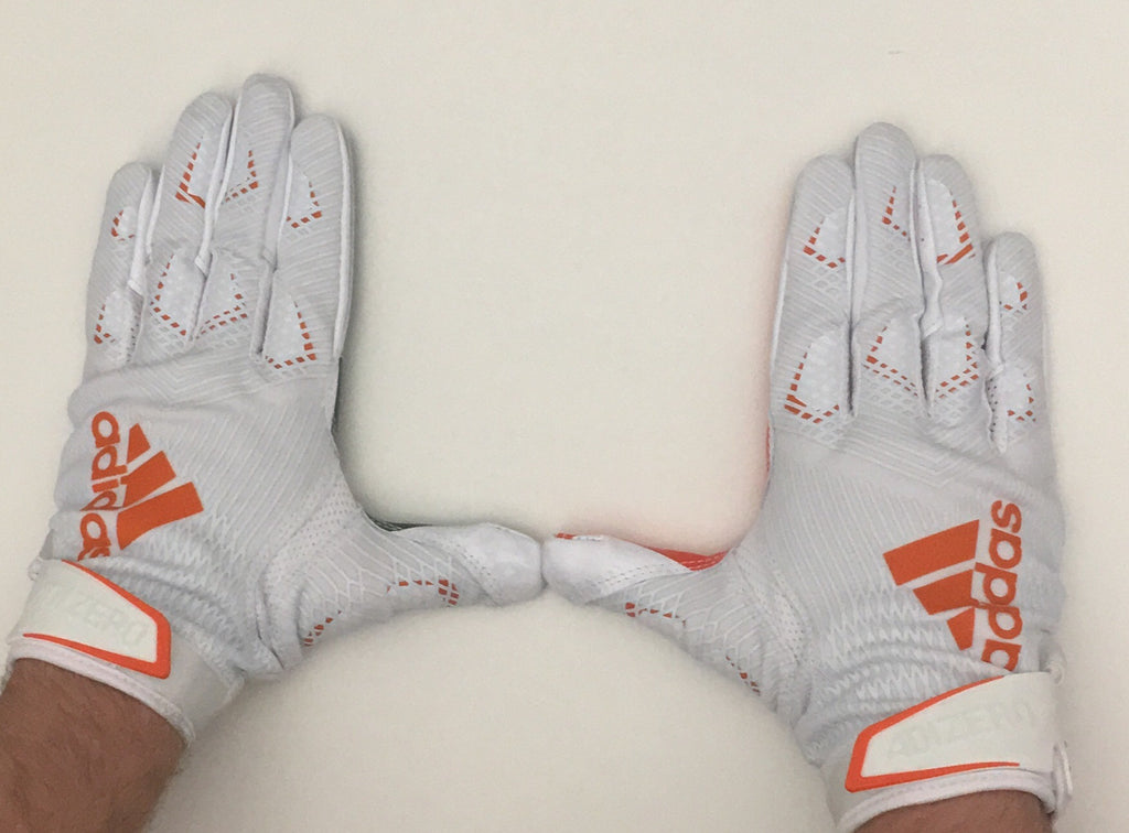 Miami Hurricanes adidas adizero 8.0 U Football Receiver Gloves - White