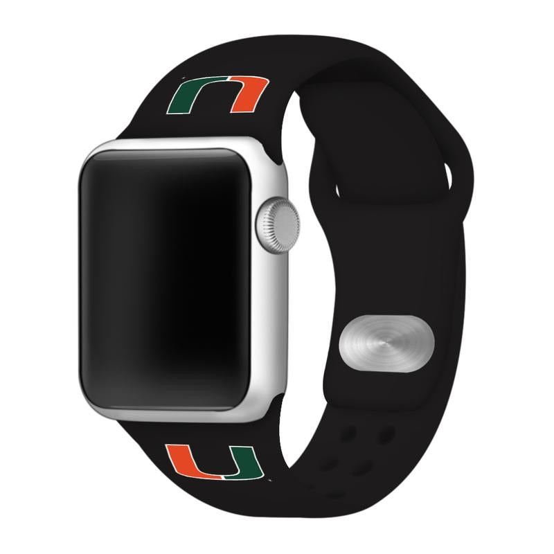 Miami Hurricanes Apple Watch Band- Black