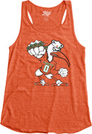 Miami Hurricanes Women's 5 Rings POW Racerback Tank Top - Orange