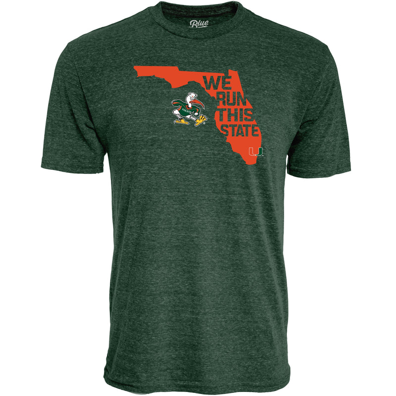 Miami Hurricanes We Run This State T-Shirt - Green