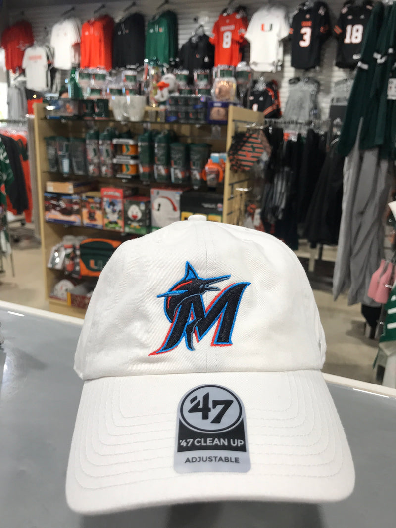Miami Marlins '47 White Clean Up Adjustable Hat